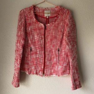 Joie Collis Tweed Zip Front Blazer